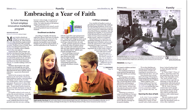 Catholic Herald Year of Faith Enrollment Promotion