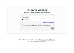 Ministry Scheduler Pro Screengrab