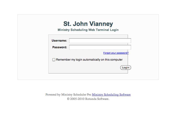Ministry Scheduler Pro Screengrab